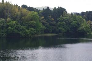 二上山と大堤池