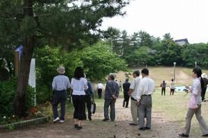 羽咋の唐戸山相撲場